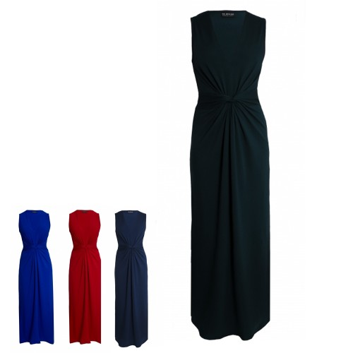 Elegant Maxi Dress with drapes from eco jersey | billbillundbill