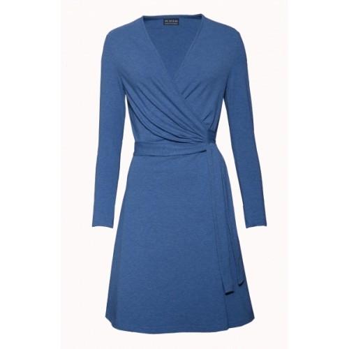 Classic Wrap Dress Denim Blue - organic cotton | billbillundbill