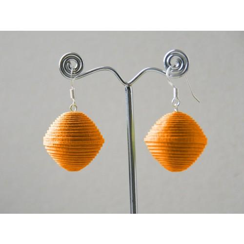 Earrings ORANGINAS made of Eco Paper