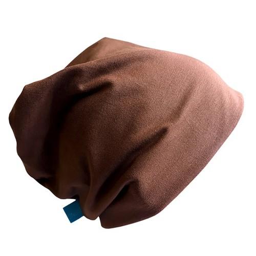 Organic Beanie Hat 'Line' Plain Cocoa Brown » bingabonga