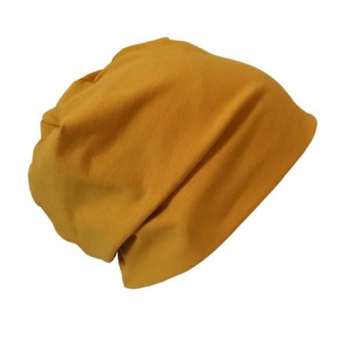 Organic Beanie Hat 'Line' Plain Yellow-, Red- and Purple Shades » bingabonga