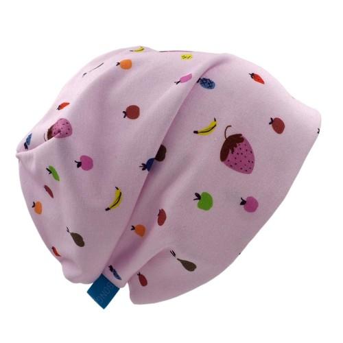 Beanie Hat 'Line' Fruits Print Organic Cotton » bingabonga