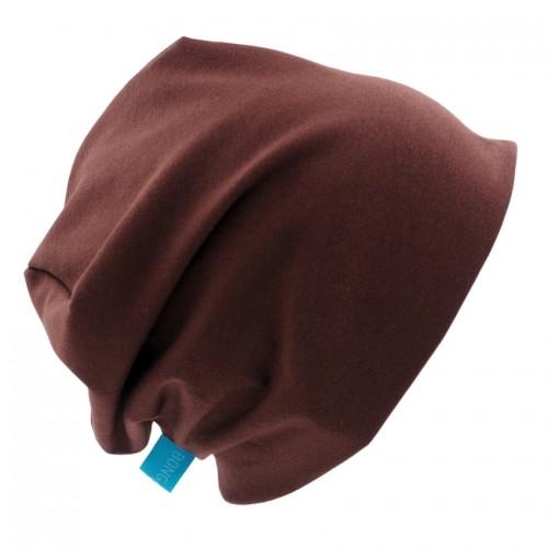 Organic Beanie Hat 'Line' Plain Brown Shades » bingabonga