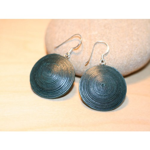 Disc Earrings made of eco paper