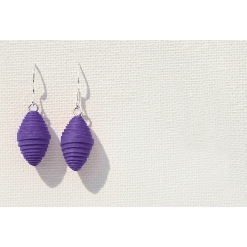 Fair & Eco Paper Earrings Violet | Sundara Paper Art