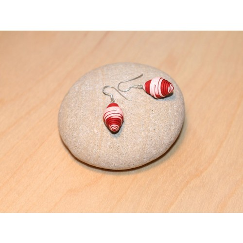 Earrings Strawberry made of Eco Paper | Sundara Paper Art