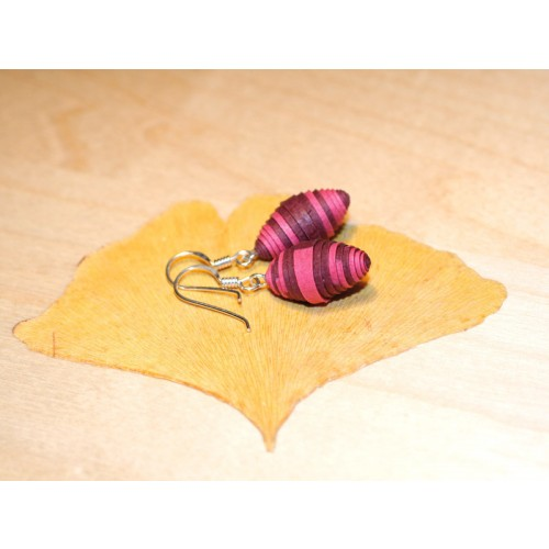 Earrings Blackberry made of Eco Paper