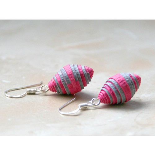 Earrings BERRY made of Eco Paper