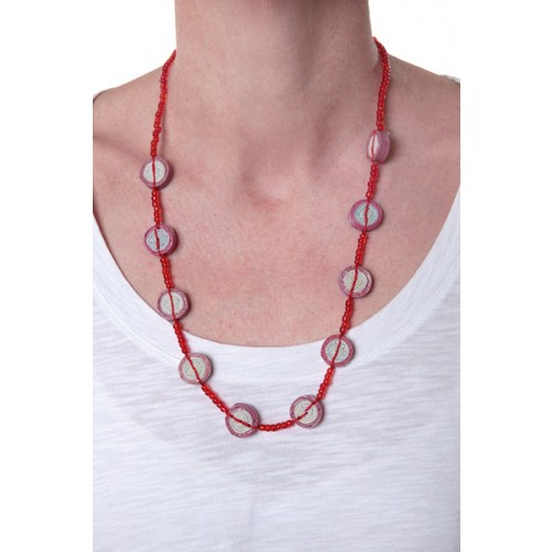 Necklace Red – Paper-Recycling