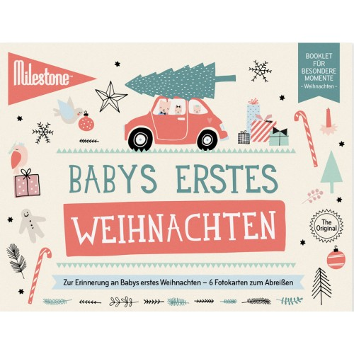 Baby's First Christmas Booklet in German | Milestone