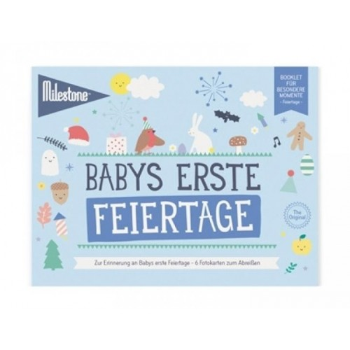 Baby's First Holidays Booklet in German | Milestone