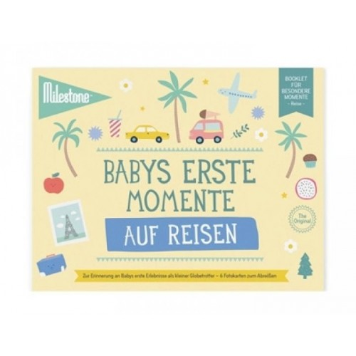 Baby's First Travel Moments Booklet in German | Milestone