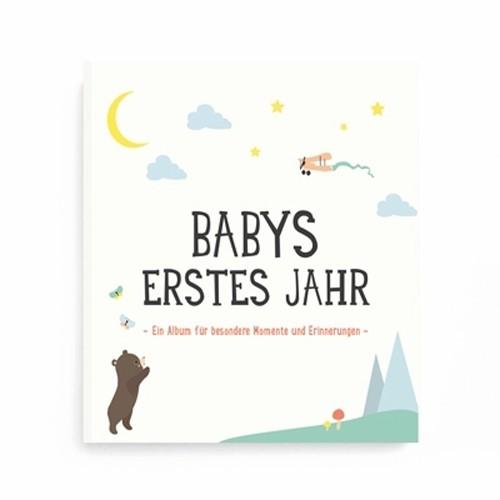 """Milestone Fotoalbum & Babybuch """"Babys erstes Jahr"""" - Deutsch"""