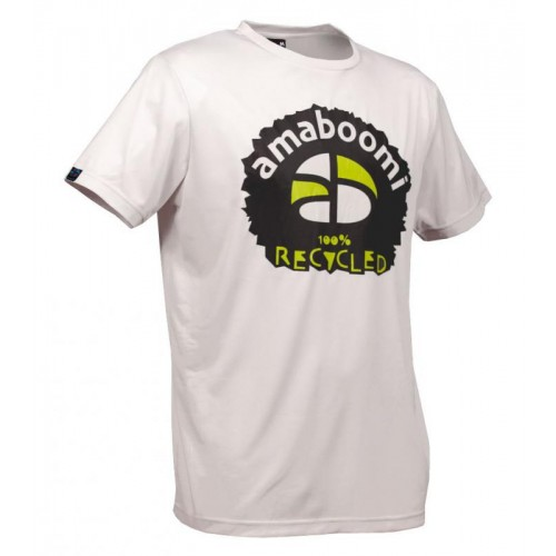 Men T-Shirt MERAPI 100% recycled – White