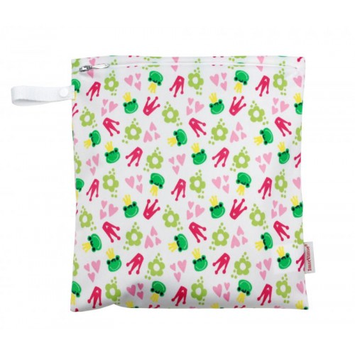 Wet Bag - Laundry Bag - Nappy Bag with Zipper - Kiss the Frog