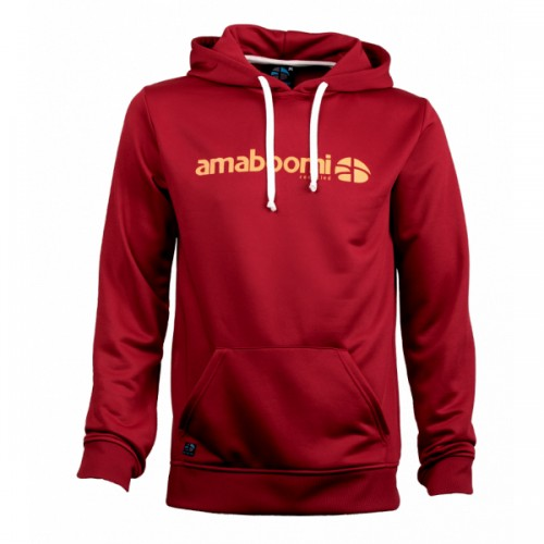 Men Hoodie PITCH 100% recycled – Bricky Red