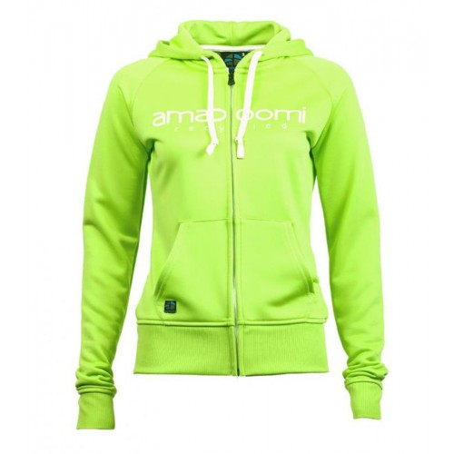 Recycled Women Zipped Hoodie MALASPINA Green