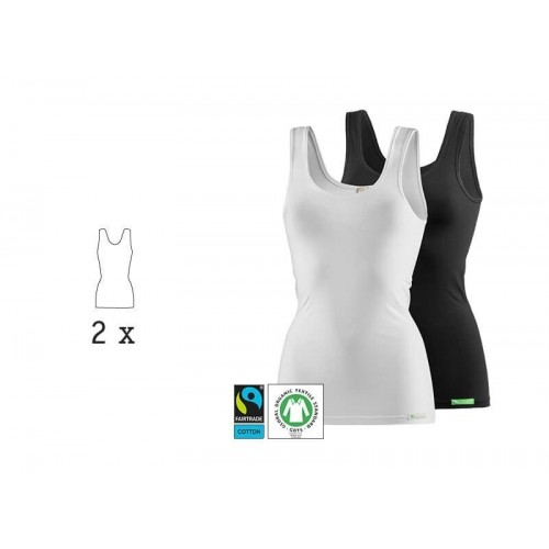 LadyCover Eco Strappy Top & Undershirt, 2 Pack white & black | kleiderhelden