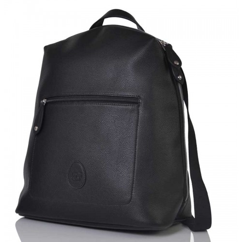 PacaPod Hartland Black Faux Leather Changing Bag & Backpack