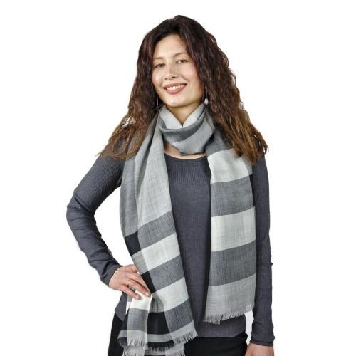Felizia Women's Scarf, Premium Baby Alpaca & Silk, XXL scarf | AlpacaOne