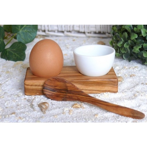 Olive Wood Egg CupTROUÉ PLUS & Egg spoon | Olivenholz erleben