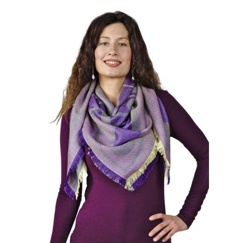 Alpaca Stole Meli - Women's Shawl with Silk | AlpacaOne