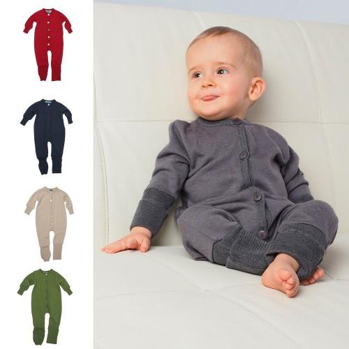 Eco Jumpsuit / Sleepsuit Terrycloth - Organic Wool/Silk | Reiff