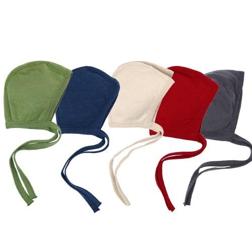 Baby Bonnet Cap of Organic Terrycloth & Silk | Reiff