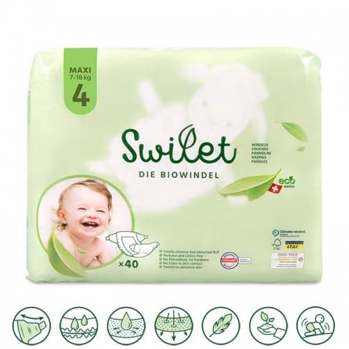 Swilet Eco Nappies size 4 Maxi 7-18Kg
