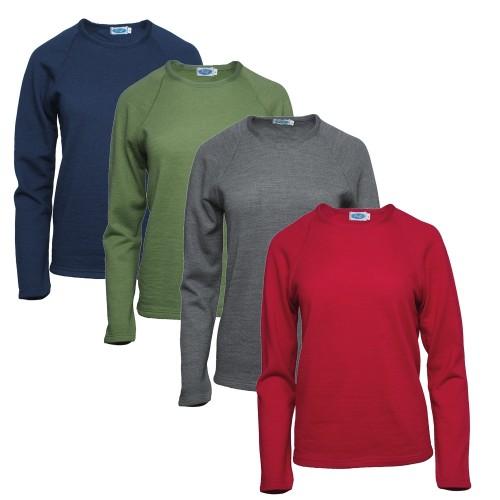Women long-sleeved Shirt Fany, organic wool & silk | Reiff