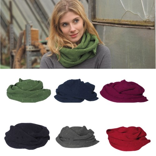 Women Round Scarves, eco wool & silk winter circle scarf | Reiff