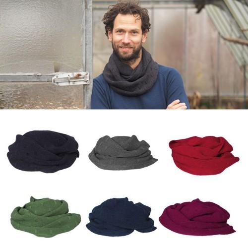 Men Circle Scarves, Eco Wool & Silk Winter Scarf | Reiff