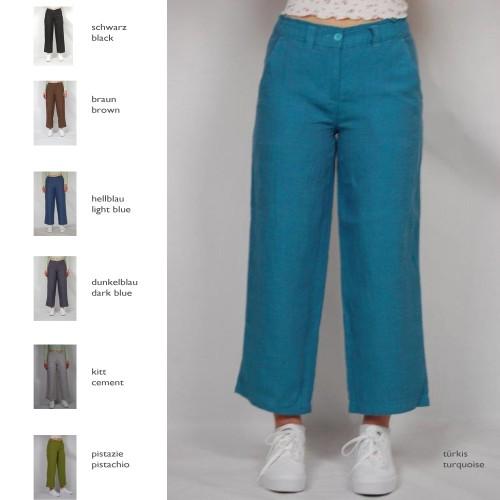 Crop Wide Leg Linen Trousers »Petra«, various colours | bloomers