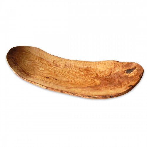 Flat Oval Fruit Bowl BARCA from Olive Wood | D.O.M.