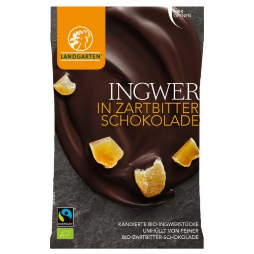 Vegan Sweets - Ginger in Dark Chocolate | Landgarten