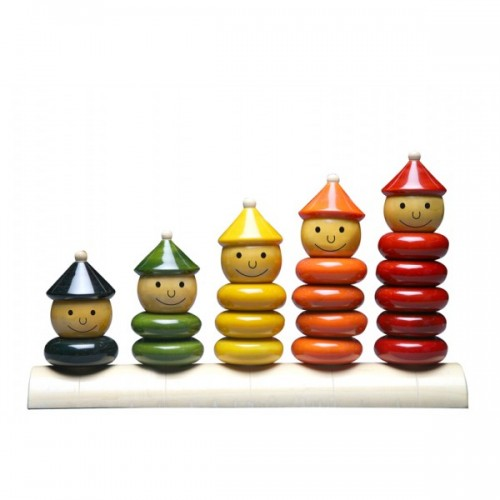 Peppy Five Eco Wooden Toy by Maya Organic