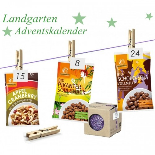 Advent calendar with organic snacks