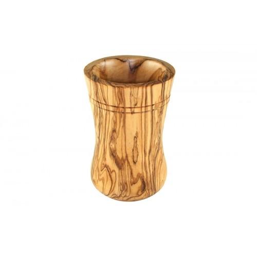 Olive Wood Utensil Holder, round, 15 cm | Olivenholz erleben