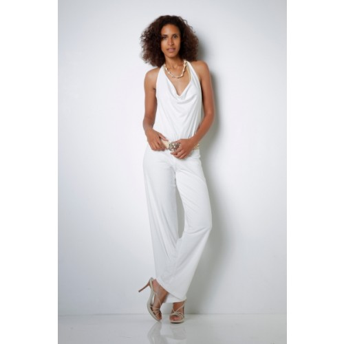 Jumpsuit with Cowl Neck Organic Jersey