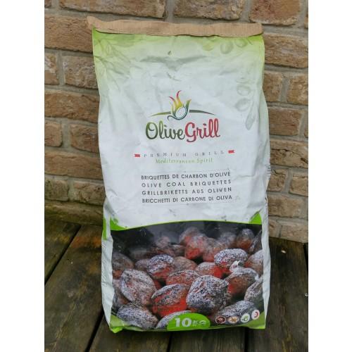 Barbecue coal of Olive Pits, 10 kg   Olivenholz erleben