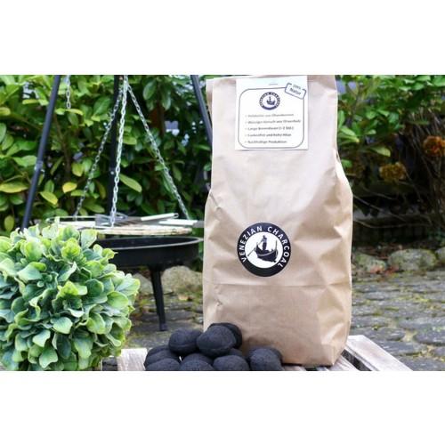 Barbecue coal of Olive Pits, 3 kg   Olivenholz erleben