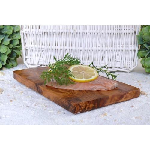 Roasting Plank of Olive Wood, angular   Olivenholz erleben