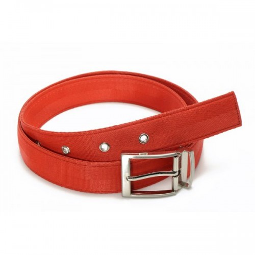 John belt in recycled seat belt red