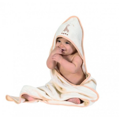 So'pure Sophie the giraffe hooded bath towel