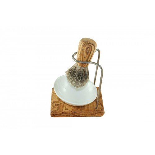 Badger hair shaving brush set DESIGN PLUS & porcelain shaving bowl