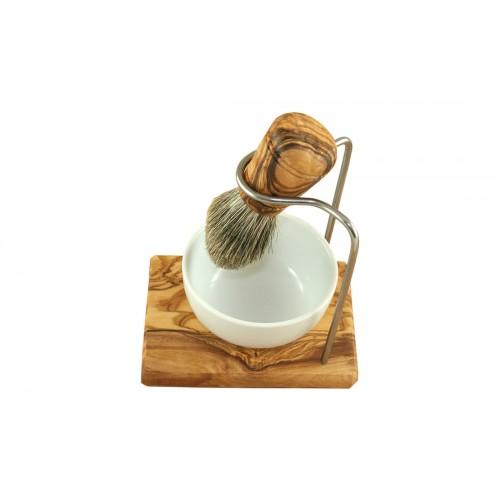 3 Piece Olive Wood Shave Set DESIGN   D.O.M. Olivenholz erleben