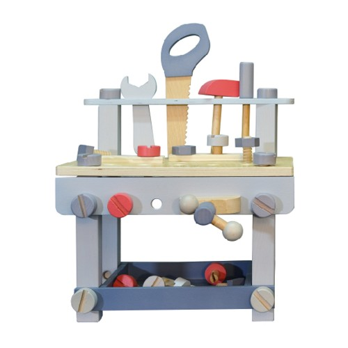 EverEarth Workbench with Tools (pastel) - FSC wood toy