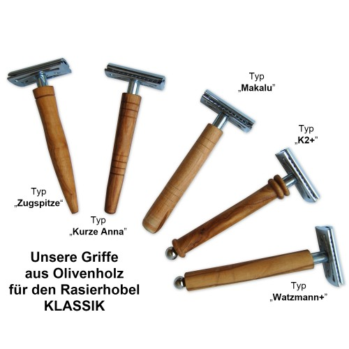 Eco Safety Razor CLASSIC with olive wood handle | D.O.M.