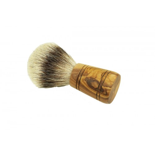 "Silvertip Badger Bristle Olive Wood Handle Shaving Brush ""Sir George"" 