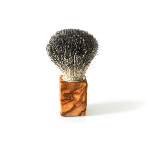 """Cubus"" Badger Hair Brush with Olive Wood Handle 